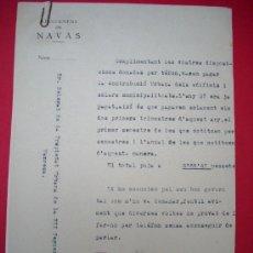 Documentos antiguos: GUERRA CIVIL - NAVÀS - 3 DOCUMENTS - 1938. Lote 35424577
