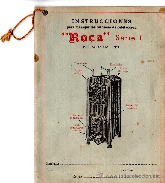 Antiguo documento de calderas de calefaccion ma comprar for Calderas para calefaccion