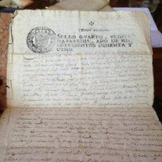 Documentos antiguos: SELLO QVARTO VEINTE MARAVEDIS AÑO 1788 . Lote 35672583