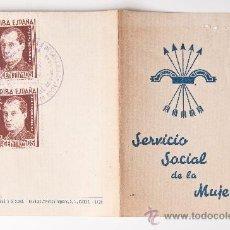 Documentos antiguos: CARTILLA DEL SERVICIO SOCIAL DE LA MUJER, SABADELL AÑO 1942. Lote 35779180