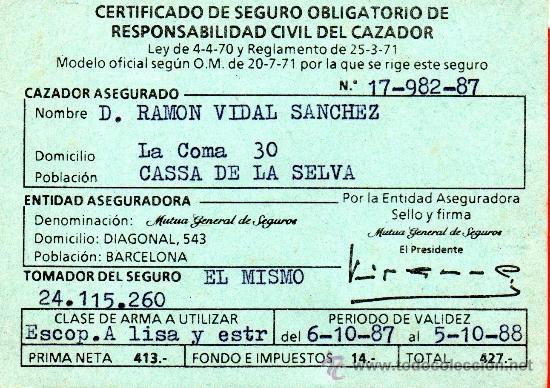 certificado de seguro obligatorio de responsab comprar