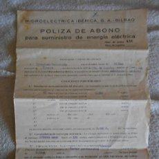 Documentos antiguos: ANTIGUO CONTRATO DE LA LUZ DE 1936. Lote 36290257