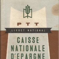 Documentos antiguos: ** PAA06 - LIVRET NATIONAL - CAISSE NATIONALE D´EPARGNE. Lote 36333277