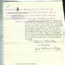 Documentos antiguos: DOCUMENTO ANTIGUO DEL AÑO 1930 DEL MINISTERIO DE ECONOMIA Y HACIENDA. Lote 36530351
