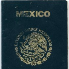 Documentos antiguos: PASAPORTE DE MEXICO (VER FOTOS). Lote 36602142