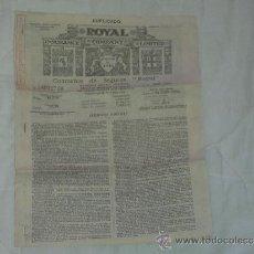 Documentos antiguos: COMPAÑIA DE SEGUROS ROYAL -CONTRATO 1932. Lote 36635535