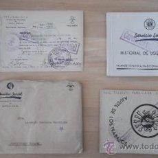 Documentos antiguos: SERVICIO SOCIAL DOCUMENTOS AÑOS 40 FALANGE SECCION FEMENINA . Lote 37030432