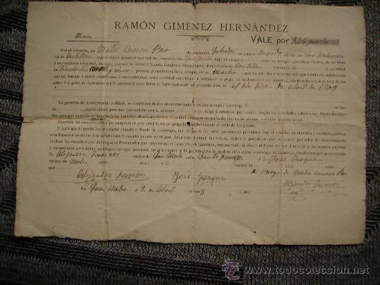CURIOSO DOCUMENTO DE COMPRA-VENTA DE UN MACHO.SAN MATEO,CASTELLON.AÑO 1908 (Coleccionismo - Documentos - Otros documentos)