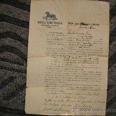 Documentos antiguos: CURIOSO DOCUMENTO DE COMPRA-VENTA DE UN MULO.TORRE ENDOMENECH-SAN MATEO,CASTELLON-AÑO 1912. Lote 36753713