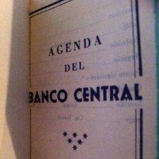 Documentos antiguos: BANCO CENTRAL MINI AGENDA 1960. Lote 36963414