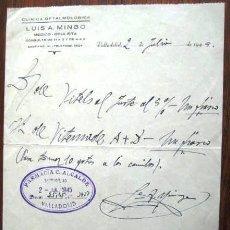 Documentos antiguos: RECETA OFTALMOLOGO. VALLADOLID 1945.ENVIO GRATIS¡¡¡. Lote 36971180