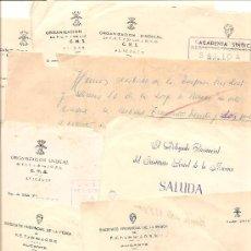 Documentos antiguos: ALICANTE - LOTE DE 10 DOCUMENTOS DE DIFERENTE ENTIDADES SINDICALES AÑOS 40 Y 50. Lote 36999170