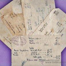 Documentos antiguos: ALBARANES / FACTURA - LOTE DE 7 - SOC. DE S.VICENTE PAUL - CATEDRAL - TARRAGONA/ TGN -AÑO 1949 - JEM. Lote 37183870