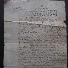 Documentos antiguos: DOCUMENTO MANUSCRITO PAPEL FISCAL AÑO 1771 PALAUTORDERA . Lote 37304686