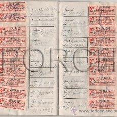 Documentos antiguos: 1921, COMPRA O ARRENDAMIENTO DE LA MÁQUINA COSER SINGER, CON CUPONES COMPLETO PLAZO INDICADO.. Lote 37405809