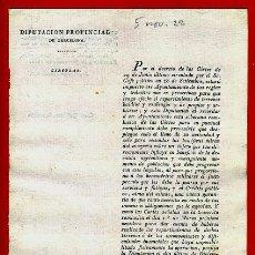 Documentos antiguos: DOCUMENTO DIPUTACION BARCELONA , CIRCULAR , 1822 , ORIGINAL , C14. Lote 37506387