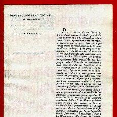 Documentos antiguos: DOCUMENTO DIPUTACION BARCELONA , CIRCULAR , 1822 , ORIGINAL , C15. Lote 37506393