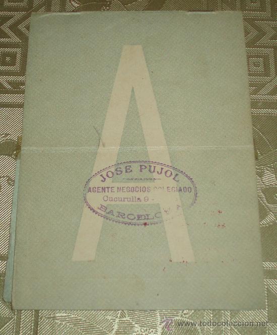 Documentos antiguos: carnet de conducir expedido en Barcelona año 1930 sello y polizas - Foto 3 - 37555147
