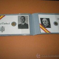 Documentos antiguos: PORTA CARNETS/DNI-BANCO POPULAR ESPAÑOL-CARNETS DE FRANCO Y EL REY-MONEDA PEQUEÑA DE ORO-.. Lote 37662404