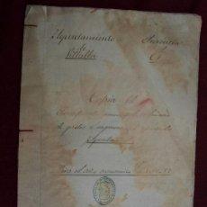 Alte Dokumente - Vilalba, Lugo. Copia del Presupuesto municipal ordinario de gastos en ingresos año 1886-1887 Galicia - 37676356