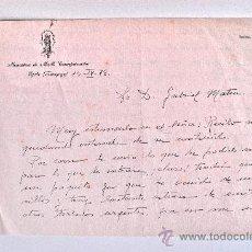Documentos antiguos: CARTA A MANO, FIRMADA POR UNA MONJA DEL MONASTERIO DE MM. CONCEPCIONISTAS ZARAGOZA (1978) . Lote 37877746