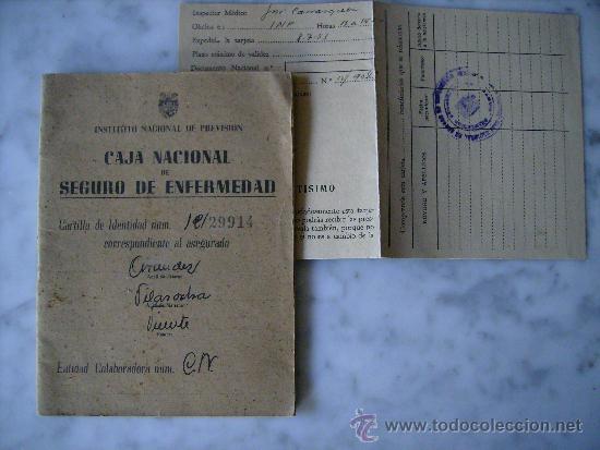 CAJA NACIONAL DE SEGURO DE ENFERMEDAD-CARTILLA AÑO 1945 (Coleccionismo - Documentos - Otros documentos)