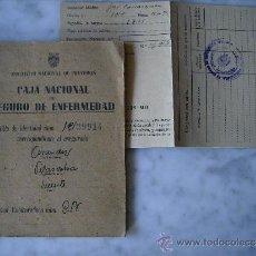 Documentos antiguos: CAJA NACIONAL DE SEGURO DE ENFERMEDAD-CARTILLA AÑO 1945. Lote 37891943