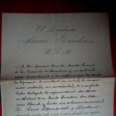 Documenti antichi: ATENEO BARCELONÉS - LUÍS DOMENECH I MONTANER - 1913. Lote 38170334