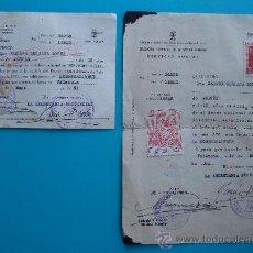 Documentos antiguos: SERVICIO SOCIAL DE LA MUJER, DOCUMENTO CON SELLOS DE JOSE ANTONIO VALENCIA 19 MAYO DE 1951,. Lote 38187684