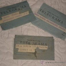 Documentos antiguos: LOTE DE TRES TELEGRAMAS . Lote 38225918