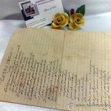 Documentos antiguos: ENTRE NOMÁS,- ANTIGUA LETRA DE TANGO, MANUSCRITA.. Lote 38305025