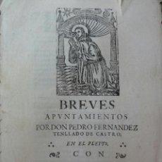 Documentos antiguos: PLEITO EN LUCENA SOBRE MAYORAZGO DE DIEGO DE CASTRO. Lote 38319593