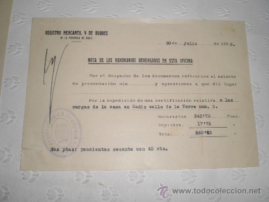 Documentos antiguos: Lote de 5 antiguos documentos de notarios y abogados. 1939 y 1955. - Foto 4 - 38332223