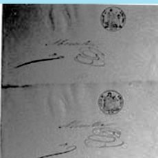 """Documentos antiguos: 1860. PAPEL SELLADO F.N.M.T. 3 DOCUMENTOS """"MUESTRAS"""" DEL SELLO GRABADO EN SECO DE ISABEL II Y ESCUDO. Lote 38394696"""
