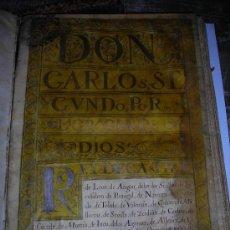 Documentos antiguos: EJECUTORIA S.XVII - DON CARLOS SEGUNDO POR LA GRACIA DE DIOS REY DE CASTILLA LEON, PERGAMINO. Lote 38458231