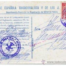 Documentos antiguos: CERTIFICADO DE SERVICIO SOCIAL DE LA SECCIÓN FEMENINA DE FALANGE DE SANTANDER. AÑO 1952. Lote 38667676