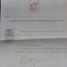 Documentos antiguos: CERTIFICADO DE BUENA CONDUCTA SANTANDER 27 DE FEBRERO DE 1931 SERAPIO BEADE ARGUELLES . Lote 38766194