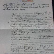 Documentos antiguos: ACTA DE CONSENTIMIENTO SANTANDER 27 DE FEBRERO DE 1931 SERAPIO BEADE ANTE EL JUEZ MUNICIPAL. Lote 38766218