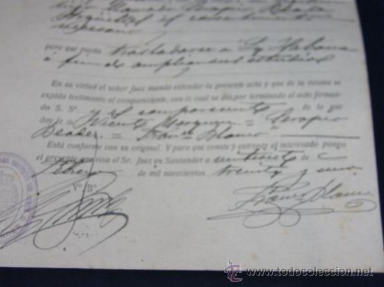 Documentos antiguos: Acta de Consentimiento Santander 27 de febrero de 1931 Serapio Beade ante el Juez municipal - Foto 2 - 38766218