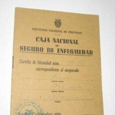 Documentos antiguos: CARTILLA CAJA NACIONAL DE SEGURO DE ENFERMEDAD - DELEGACION TARRAGONA - 1944. Lote 38799297