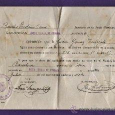 Documentos antiguos: CERTIFICADO - JUNTA MUNICIPAL - BASILIO ESCOLARIO/ JUAN GOMEZ - STA EULALIA RONSADA -AÑO 1947 - RD11. Lote 38816289