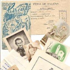 Documentos antiguos: VILLENA (ALICANTE) - LOTE 9 DOCUMENTOS MUY INTERESANTE - VER DESCRIPCIÓN - AÑOS 20 - 50 Y 60. Lote 39155823