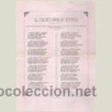Documentos antiguos: DOCUMENTO CON COMPOSICIÓN POÉTICA DE HOMENAJE A ALFONSO XIII - PAMPLONA, AÑOS 20. Lote 91435772