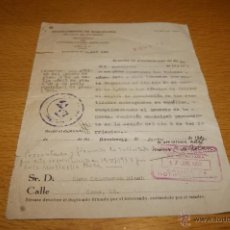 Documentos antiguos: DOCUMENTO DEL AYUNTAMIENTO DE BARCELONA, 1953. Lote 39533374