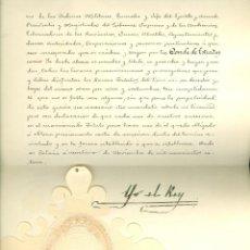 Documents Anciens: CARTA DE SUCESION COMO CONDE DE ESTRADAS A FAVOR DE RAFAEL FDEZ. DE HENESTROSA. AÑO 1914.. Lote 54308085