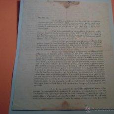 Documentos antiguos: CARTA DEL REGIMEN DE FRANCO A LA MUJER TARRAGONENSE ELECIONES AYUNTAMIENTO 1946/NOVIEMBRE-. Lote 40154912