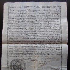 Documentos antiguos: TITULO RECAUDADOR DE PIA LIMOSNAS AÑO 1815 PARA PRESOS DE LAS CARCELES DE BARCELONA 43 CM X 31 CM. Lote 40122167