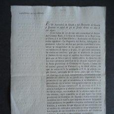 Documentos antiguos: CARLISMO.MILICIA NACIONAL.NORMAS PARA RESTITUIRSE A SU DOMICILIO LOS MIEMBROS DE LA MILICIA NACIONAL. Lote 40290675
