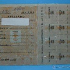 Documentos antiguos: CARNET AFILIADO FALANGE ESPAÑOLA TRADICIONALISTA Y DE LAS J.O.N.S. 1966 - PLASTIFICADO. Lote 40328026