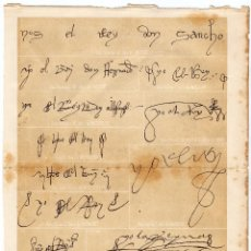 Documentos antiguos: LÁMINAS DE FIRMAS REALES \ DE SANCHO IV A ALFONSO XII \ HISTORIA GENERAL DE ESPAÑA (1922). Lote 40413632